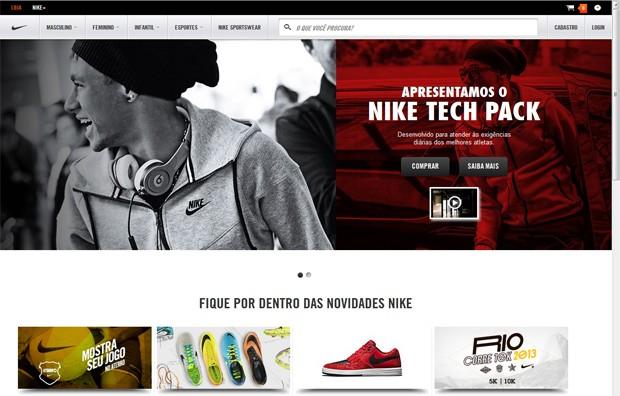 ed11a7501e0 Loja online da Nike no Brasil entra no ar em parceria com a Nova ...