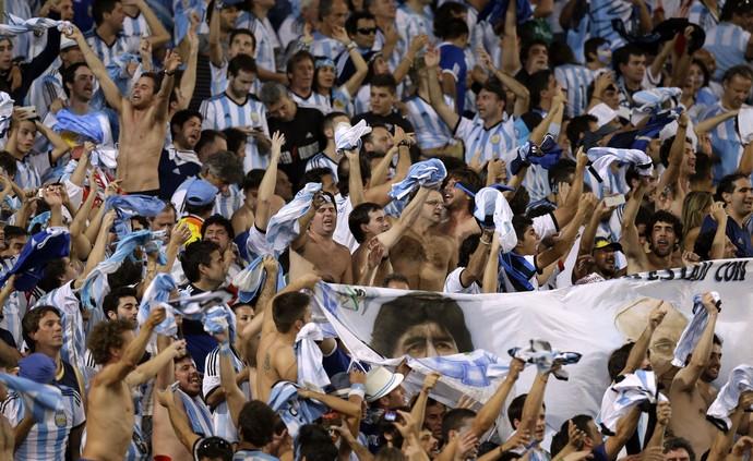 Torcida Argentina Alemanha (Foto: AP)