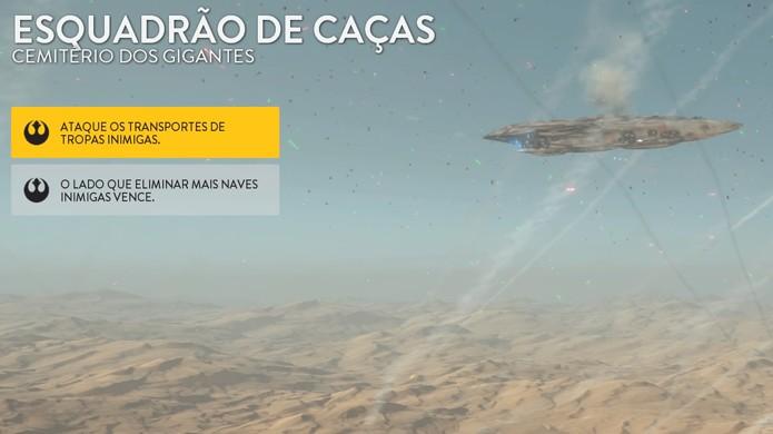 O modo Esquadrão de Caças traz combates de naves simples para Star Wars Battlefront (Foto: Reprodução/Rafael Monteiro)