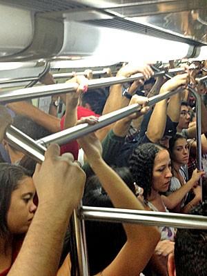 Metrô, pane, linha vermelha (Foto: Cauê Fabiano/G1)