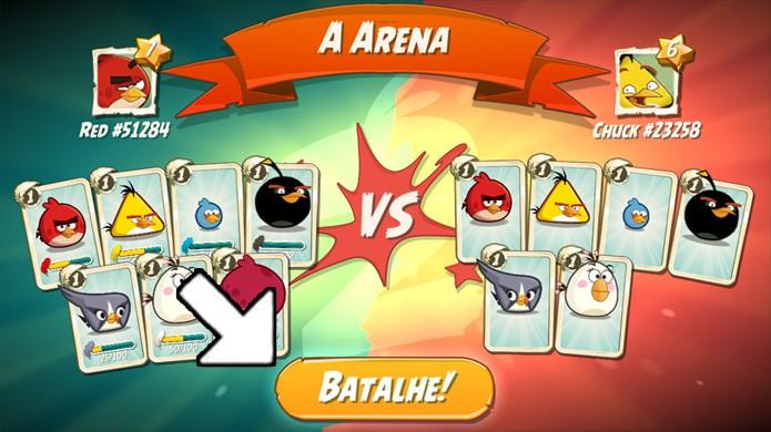 Assim que Angry Birds 2 encontrar um adversário clique em Batalhe! para começar a disputa (Foto: Reprodução/Rafael Monteiro)
