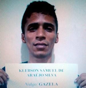 Klebson Samuel de Araújo Silva foi preso em Osasco (Foto: Divulgação/Polícia Civil do RN)