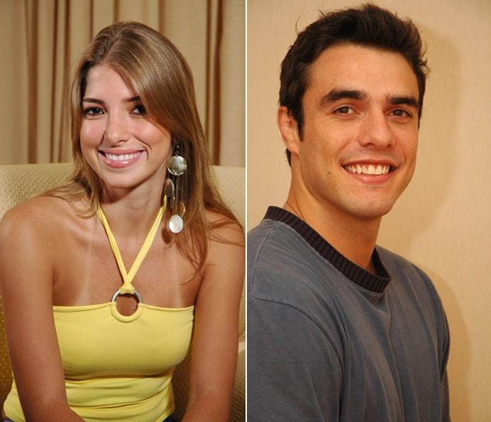 No BBB6, Daniel Saullo ficou no edredom com Roberta. Atualmente ele é casado com Mariana Felício (Foto: TV Globo)