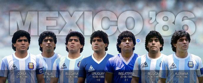 Camisas Maradona Copa 1986 (Foto: Reprodução)