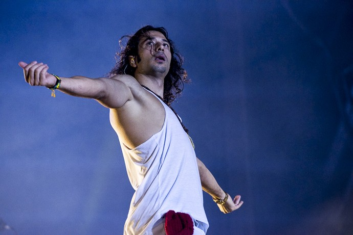 O vocalista da banda Magic! disse que foi muito bem recebido pelos brasileiros  (Foto: Ellen Soares / Gshow)