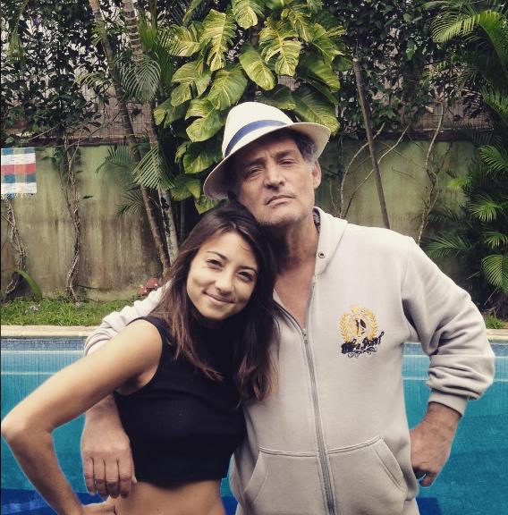 Julia Oristanio e o pai, Giuseppe (Foto: Reprodução)