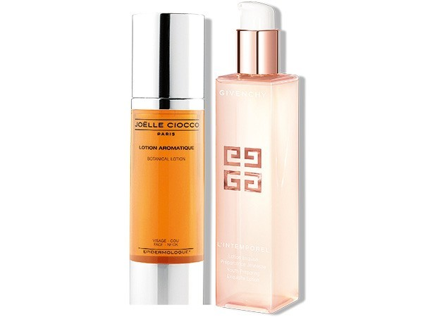 L'Intemporel Lotion, Givenchy, R$ 329. Lotion Aromatique, Joëlle Ciocco, R$ 240 (Foto: Divulgação)