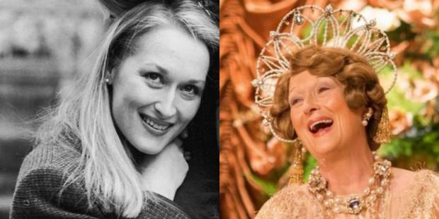 Meryl Streep em Kramer versus Kramer, de 1979, e em Florence - Quem é Essa Mulher? (Foto: Agência Getty Images   Divulgação/ IMDB)