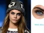 Do olho azul à boca rosa: veja as três principais tendências de beleza das semanas de moda