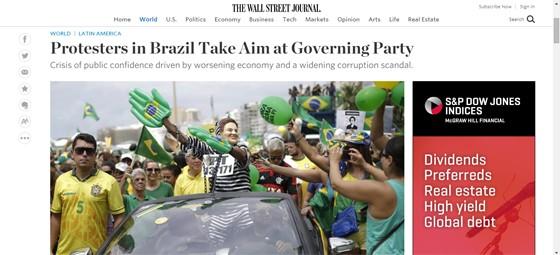 Wall Street Journal repercute manifestações de 13 de março (Foto: Reprodução)