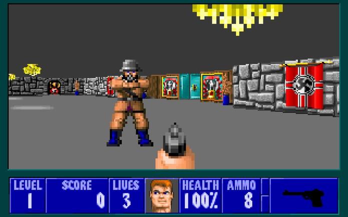 Wolfenstein 3D (Foto: Reprodução/Felipe Vinha)
