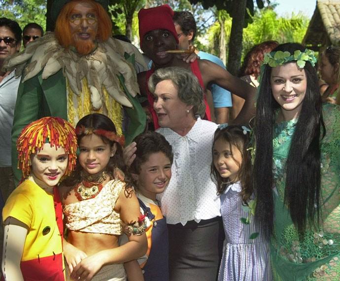 Bruna, aos 12 anos, em participação especial no Sítio do Picapau Amarelo, ao lado de Nicette Bruno (Foto: Globo/Renato Rocha Miranda)