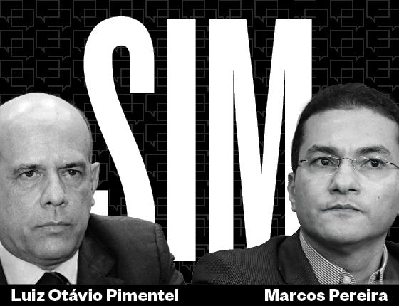 Marcos Pereira e Luiz Otávio Pimentel (Foto: José Cruz/Agência Brasil; Solon Soares/Assembleia de Santa Catarina)