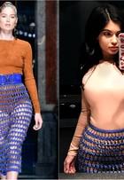Quem usou melhor? Kylie Jenner usa saia grifada direto da passarela