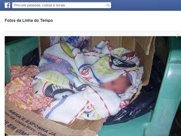 Usuários do Facebook solitaram adoção da criança pela rede social (Foto: Facebook/Reprodução)