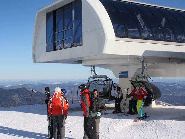 Estação de esqui de Sheregesh, na Sibéria (Foto: Divulgação/sheregesh.su)
