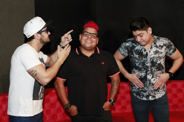 Henrique, Diego e DJ Tubarão (Foto: Jessica Monstans / EGO)