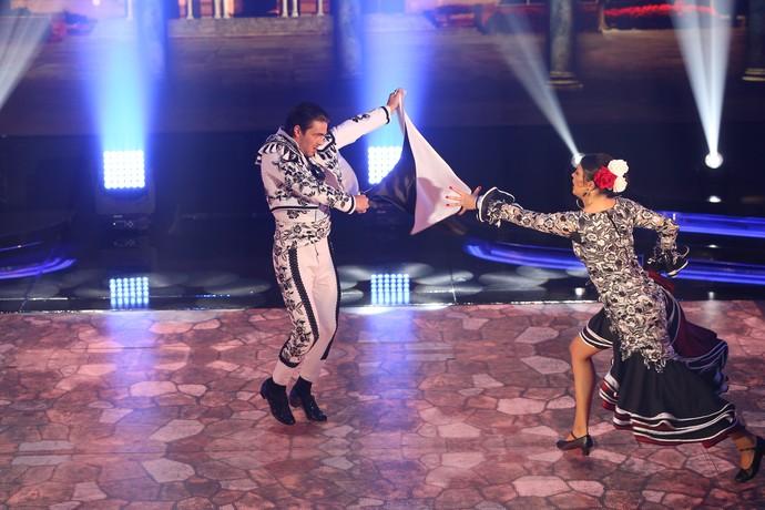 Brenno e Rachel receberam boa nota dos jurados (Foto: Carol Caminha/Gshow)