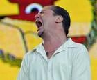 Mike Patton se diz 'cachaceiro' e mostra vigor (Flávio Moraes/G1)