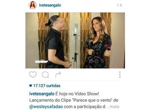 Clipe Ivete com Wesley Safadão (Foto: Reprodução/Instagram)