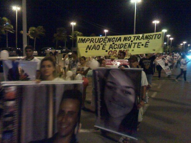 Mobilização foi realizada na Orla de Aracaju (Foto: Leandro da Graça/TV Sergipe)