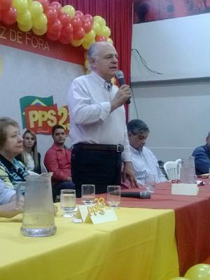 Pimenta da Veiga Encontro PPS Juiz de Fora (Foto: Roberta Oliveira/ G1)