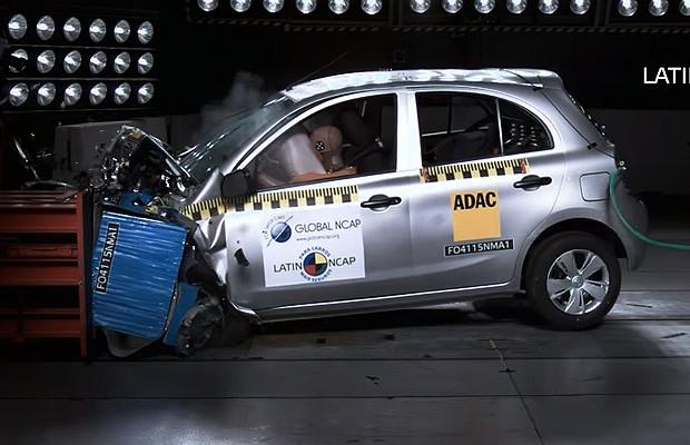 Nissan March em crash test do Latin NCAP (Foto: Latin NCAP)