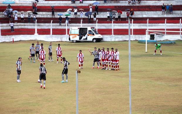 Túlio jogo Botafogo Cachoeiro (Foto: Thiago Fernandes / Globoesporte.com)