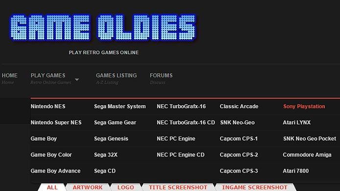 Jogue vários clássicos de PSOne no Game Oldies (Foto: Reprodução/Tais Carvalho)