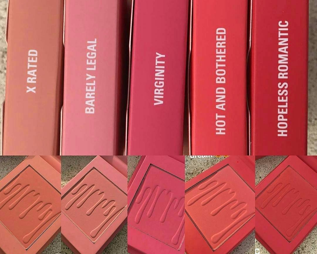 Coleção de blushes da Kylie Cosmetics (Foto: Reprodução/Instagram)