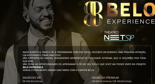Projeto Belo Experience (Foto: Reprodução/Site )