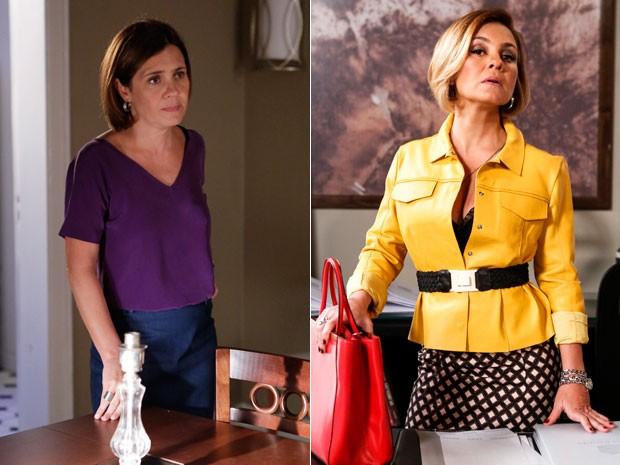 Na pele de personagem, a atriz aparece com cabelo mais claro (Foto: Felipe Monteiro/Ellen Soares/Gshow)