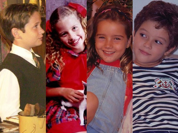 As crianças da ficção (Foto: Divulgação/Arquivo Pessoal/CEDOC/TV Globo)