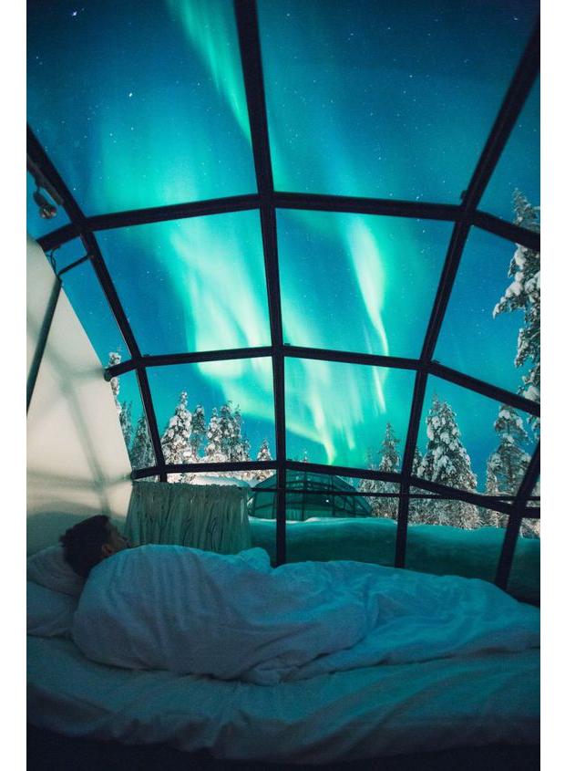 lugares-gostaria-de-estar-viagem-iglu-finlandia-neve-frio-aurora-boreal-romantico-3 (Foto: Pinterest)