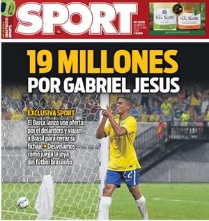 Barcelona oferece 19 milhões de euros por Gabriel Jesus, diz jornal Sport (Foto: Reprodução)
