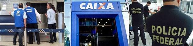 Anac, Caixa e Polícia Federal devem abrir concursos em 2014 (Foto: Leandro Filippi/G1 e Divulgação)