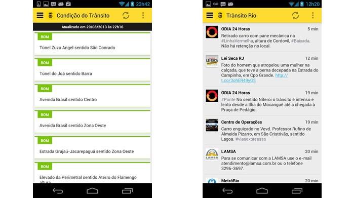 O Trânsito Rio é uma excelente ferramenta para quem dirige pelo Rio de janeiro (Foto: Divulgação/Google Play)