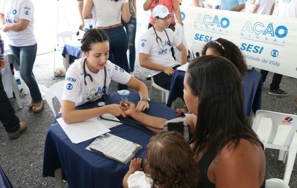 Foram realizados 18 mil atendimentos neste sábado (21), em Cuiabá, por meio da parceria entre o Serviço Social da Indústria (Sesi) e a Globo (Foto: Reprodução/ Sistema Fiemt)