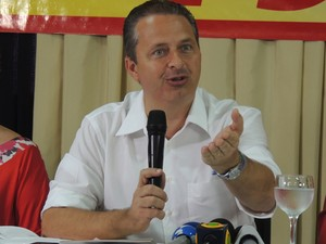 Eduardo Campos cumpre agenda em Natal nesta sexta-feira (11) (Foto: Felipe Gibson/G1)