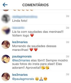 Paula Morais e Bia Antony (Foto: Instagram/Reprodução)