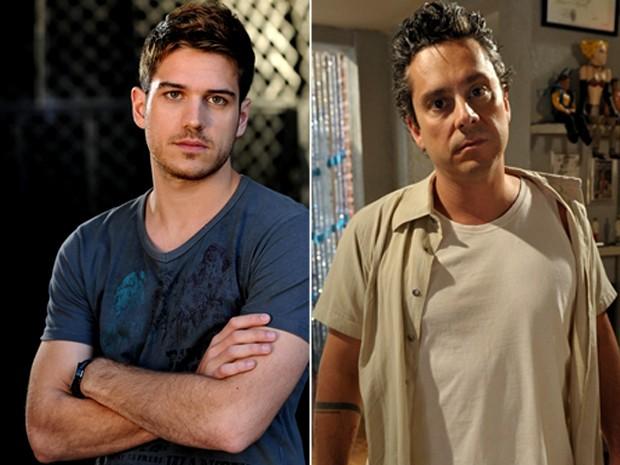 Marco Pigossi e Alexandre Nero fizeram Fina Estampa entre 2011 e 2012 como Rafael e Baltazar, respectivamente (Foto: Alex Carvalho/ Globo)