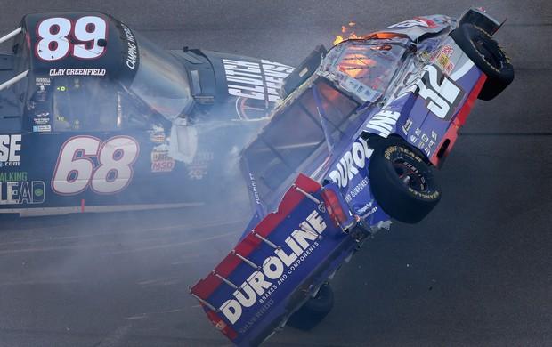 miguel paludo nascar truck series acidente talladega (Foto: Agência Getty Images)