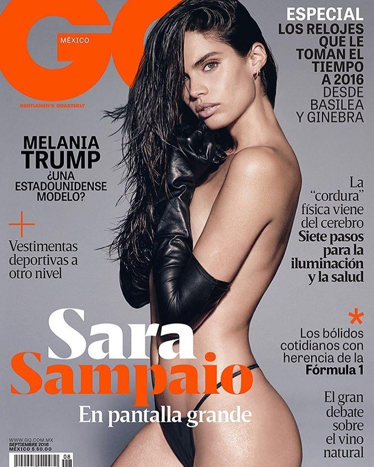 Sara Sampaio na capa da GQ mexicana de setembro (Foto: Reprodução/Instagram)