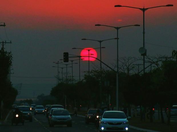 Pôr do sol em Palmas (Foto: Paparazzo Fernando Alves Lima)