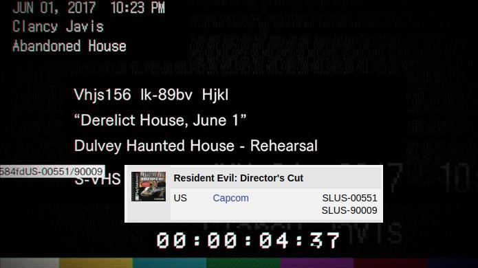 Número na fita VHS da demo de Resident Evil 7 refere-se ao Resident Evil: Directors Cut original (Foto: Reprodução/NeoGaf)