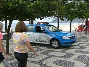 Rio de Janeiro polícia praia arrastões (Foto: Reprodução/TV Globo)