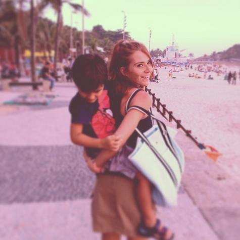 Mariah Rocha e o filho João Pedro (Foto: Reprodução)