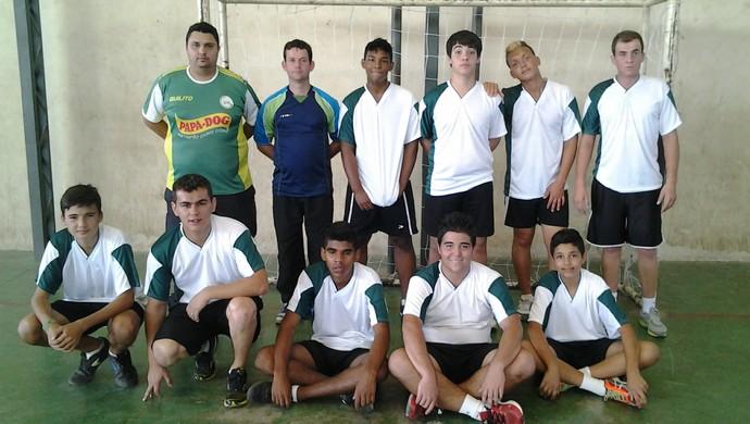 Time Masculino Projeto Handebol em Bom Despacho, MG (Foto: Guilherme Silva/Arquivo Pessoal)