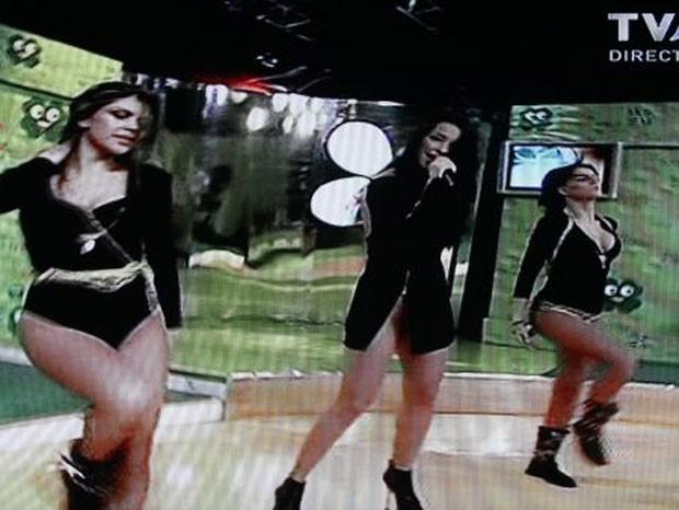 Xantora provocou polêmica ao usar roupa provocante na TV (Foto: Reprodução)