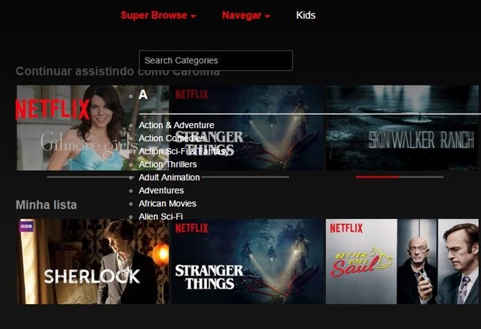 Netflix Super Browser tem uma catálogo de conteúdo secreto na Netflix